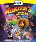 Madagaskaras 3 3D Blu-ray